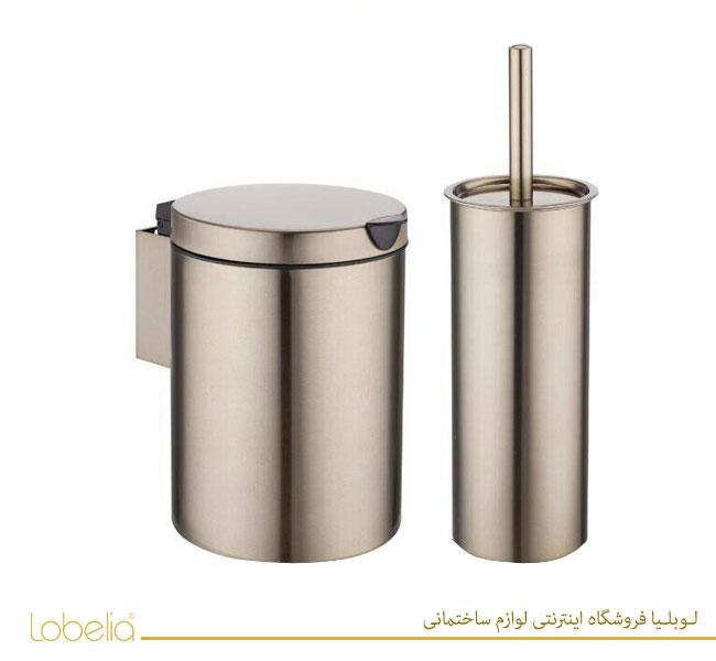 سطل و برس دستشویی بژ مدل دیواری 022-3