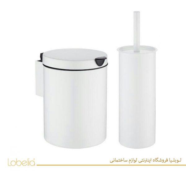سطل و برس دیواری دستشویی