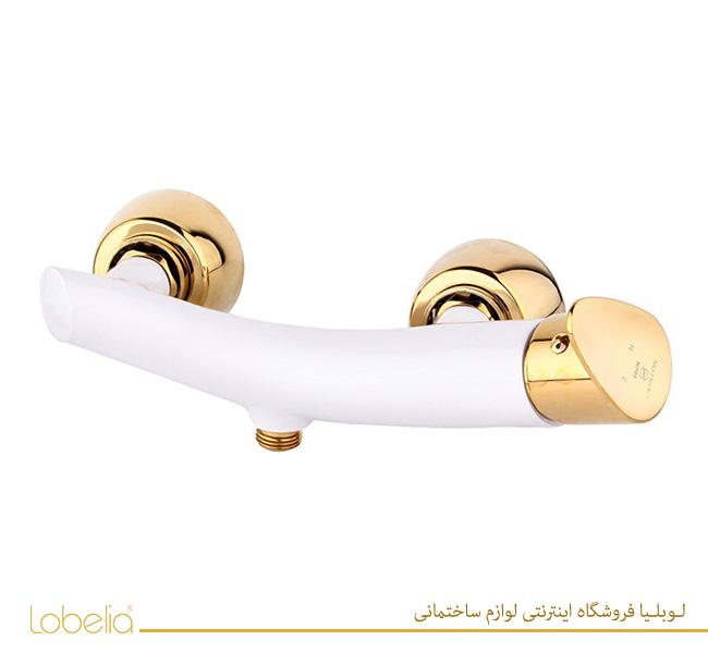 شیر دستشویی مدل سپنتا سفید طلایی