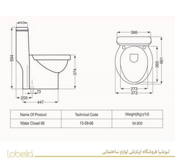 مشخصات توالت فرنگی تانیا