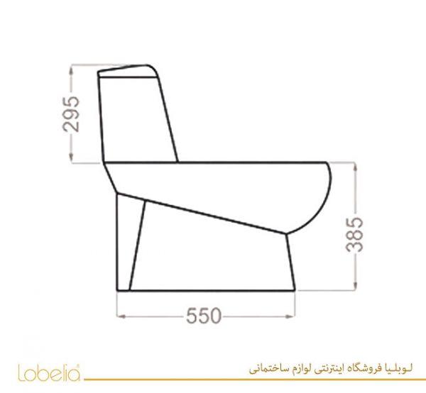 مشخصات فنی توالت فرنگی گلسار مدل پارمیس پلاس