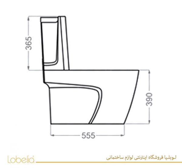مشخصات فنی خرید توالت فرنگی پلاتوس گلسار