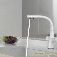 شیر ظرفشویی زو سفید 1کی دبلیوسی ظرفشویی تصفیه دار لوبلیا lobelia kwc zoe white